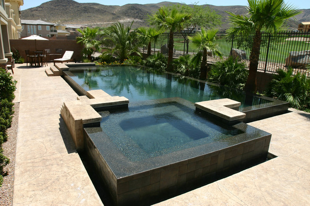 New pool and spa construction contemporary pool las for Pool and spa builders