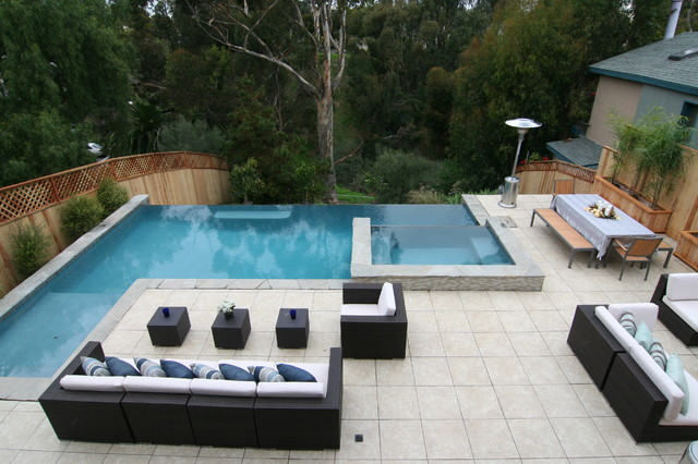 New pool design modern pool san diego for Patios modernos con piscina