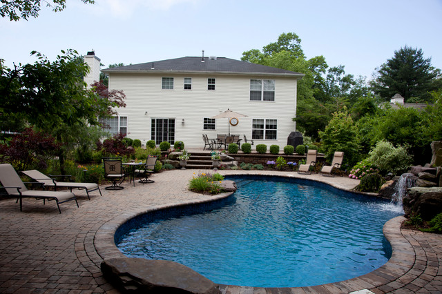 Superior New Raised Patio And Pool Traditional Swimming Pool And Hot Tub