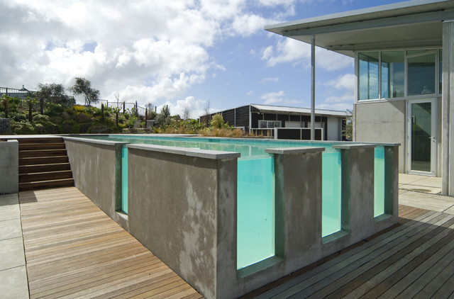 New zealand contemporary contemporary pool auckland by hamlet projects for Above ground swimming pools nz