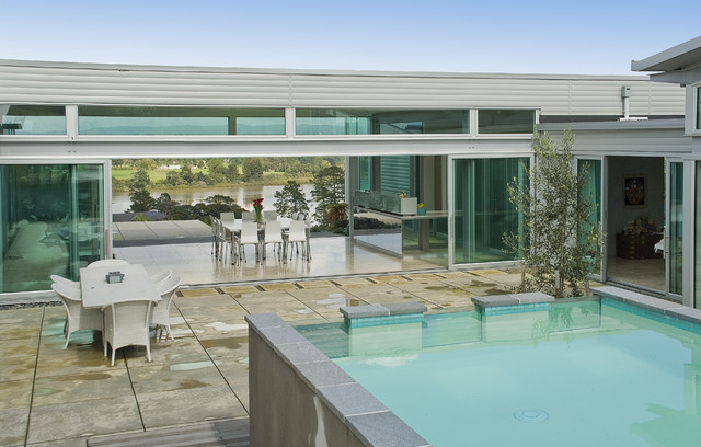New zealand contemporary contemporary pool auckland for Pool design auckland