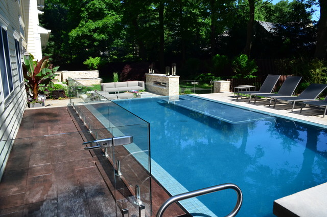 NJ Landscape Architecture Design- Custom Perimeter Overflow Pool ...
