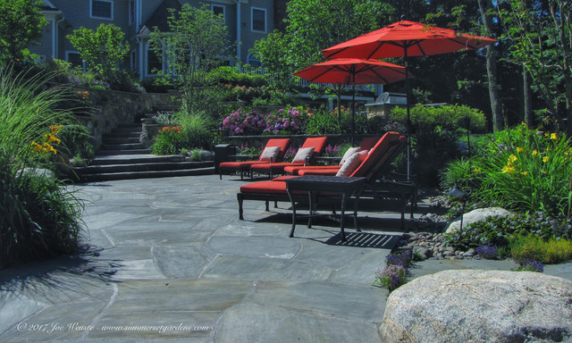 NJ Swimming Pool, Masonry & Landscaping Project traditional-pool
