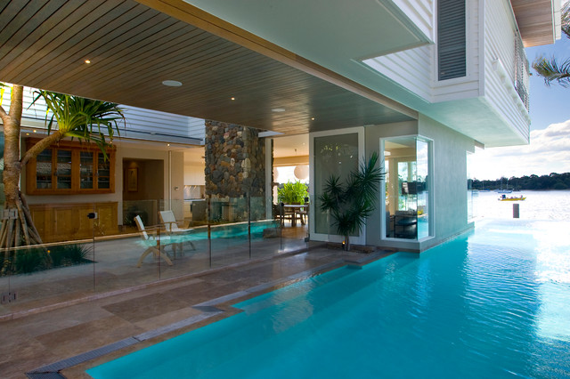 Noosa parade contempor neo piscina sunshine coast - Maison architecte queensland tim ditchfield ...