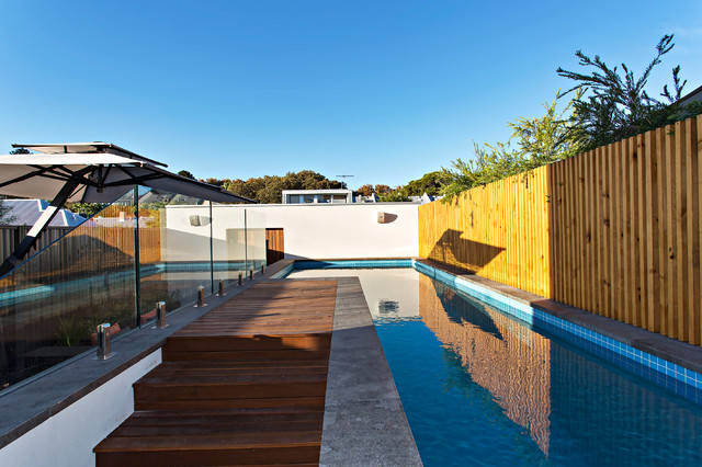 North perth project contemporary pool perth by tim for Davies landscape architects
