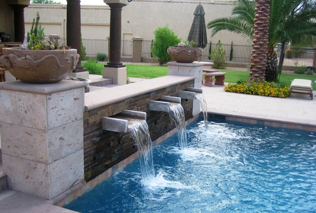 North Scottsdale--Pool Scupper - Mediterranean - Swimming ...