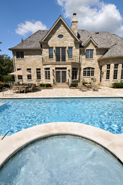 Northbrook Il Compact Lap Swimming Pool And Hot Tub