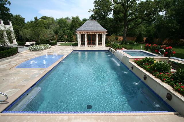 Northbrook Pool with Splash Pad traditional-pool