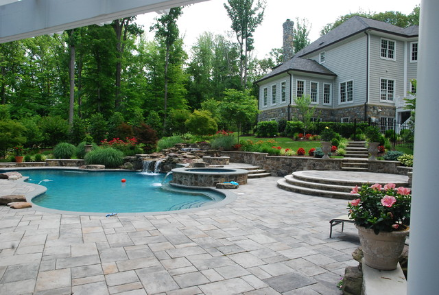 Northern virginia country estate eclectic pool dc for Pool design virginia