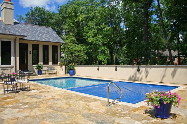 Northfield terrace pool traditional-pool