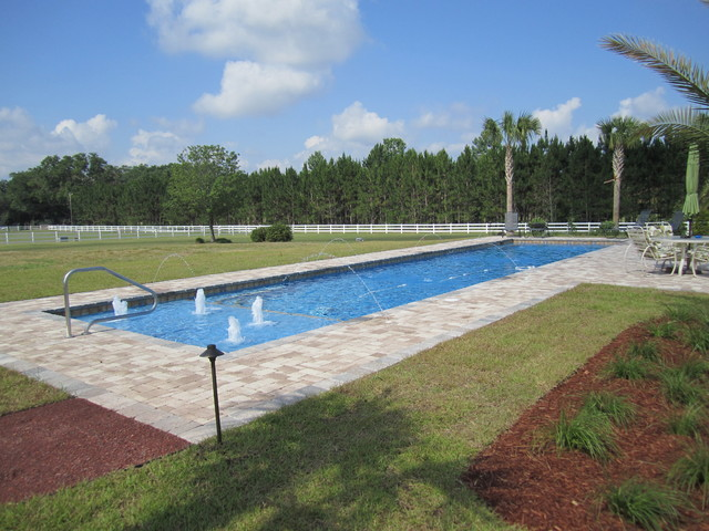 Not your average rectangle traditional pool for Quick pool obi