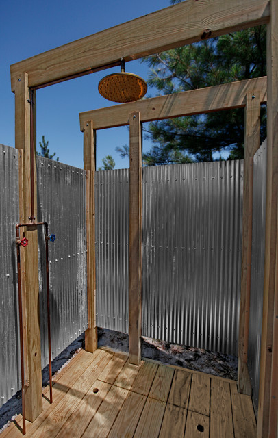 Oak Beach Outdoor Shower