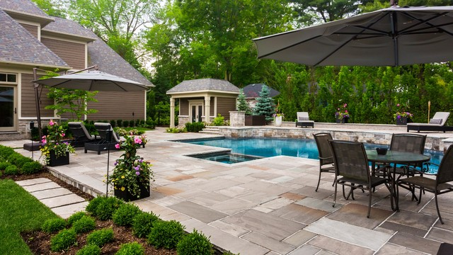 Oakville Landscape Renovation - Contemporary - Pool - Other - By Uncommon Ground Landscape Design