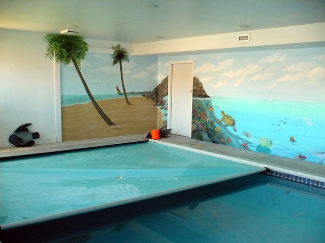 Ocaen Themed Indoor Residential Pool Painted By Ml Murals