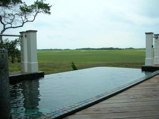 Ocean Breeze View contemporary-pool