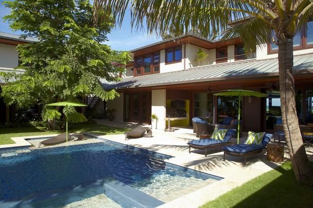Oceanfront Elegance beach-style-pool