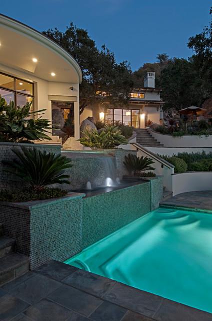 Ojai hillside for Pool design hillside