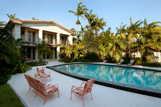 Old Hollywood Tropical Pool Miami By Paul Davis