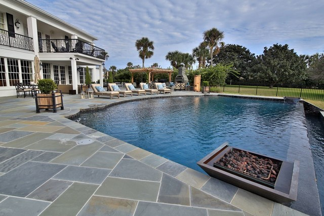 Old Ponte Vedra Contemporary Pool Jacksonville By Coastal Luxury Outdoors