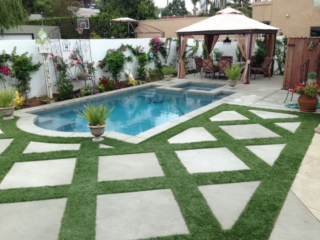 Orange county rustic pool orange county by aqua for Garden city pool jobs