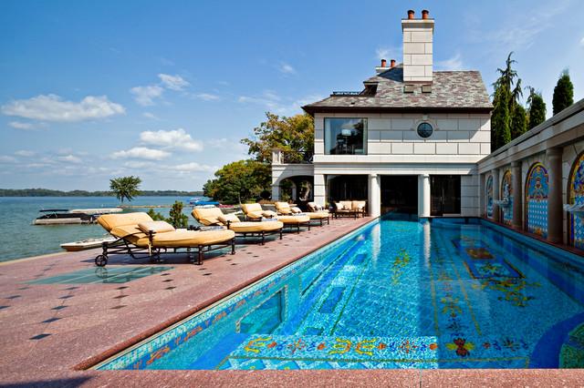 Orchard lake Residence - Traditional - Pool - detroit - by McIntosh Poris Associates