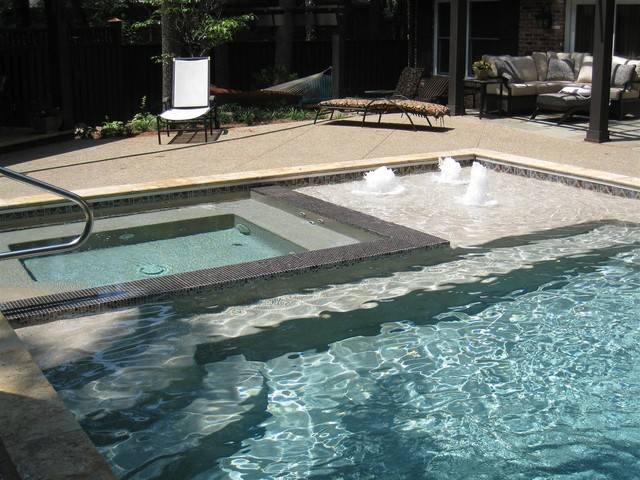 Outdoor Backyard Pool Area Contemporary Pool