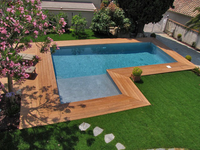 Outdoor bamboo decking - Traditional - Pool - Other - by