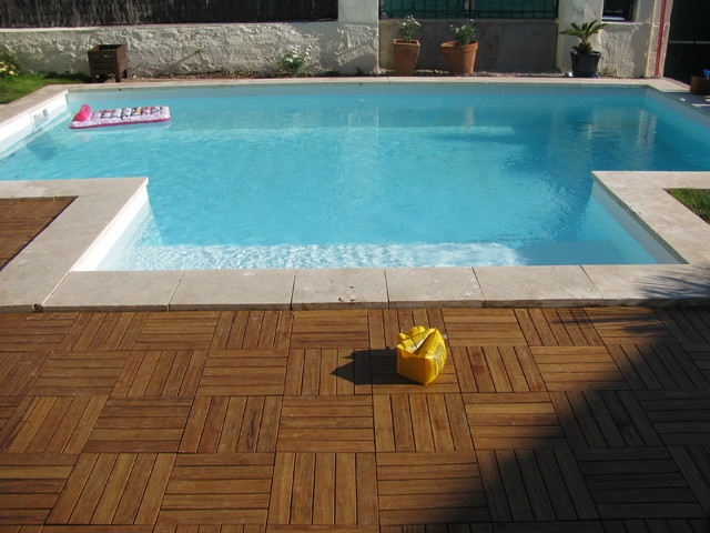 Outdoor bamboo decking traditional pool other metro for Bamboo flooring outdoor decking