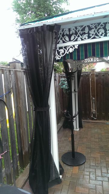 Outdoor Curtains Mosquito Drapes Porch Screens Contemporary Pool Toronto By Rescom Designs