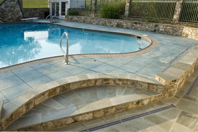 Outdoor Entertaining & Exterior Farmhouse Remodel farmhouse-pool