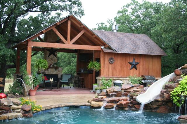 Outdoor Kitchens Pergolas Traditional Pool Dallas