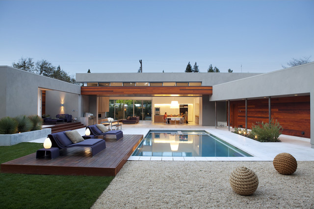 Outdoor living modern pool san francisco by Home plans with outdoor living