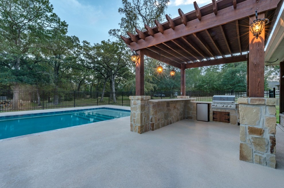 Outdoor Living Fire Pits Fireplaces Grills Pergolas And Hot Tubs And Pools Modern Pool Other By Todd Homes Houzz