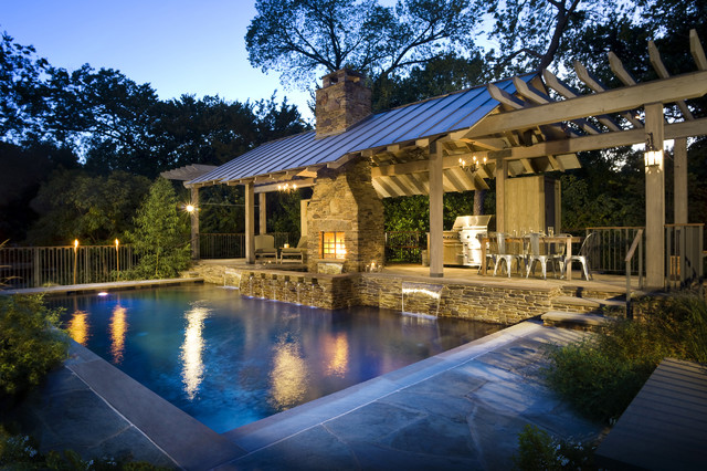 Outdoor living ii rustic pool dallas by pool for Pool design inc
