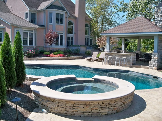 Outdoor Living traditional-pool