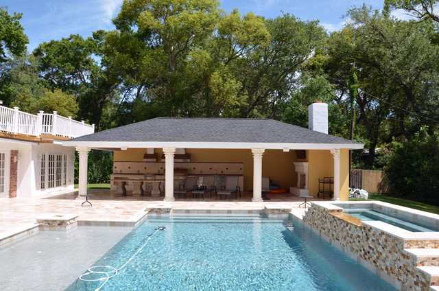 Pool And Outdoor Kitchen Designs Outdoor Living  Contemporary  Pool  Tampa Premier Outdoor .