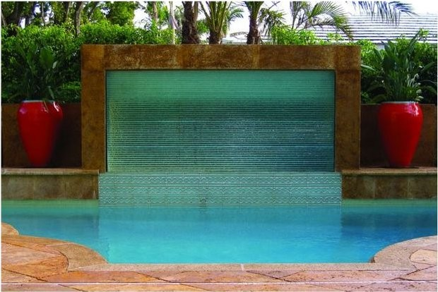 Outdoor living space orlando fl contemporary pool for Outdoor pool sculptures