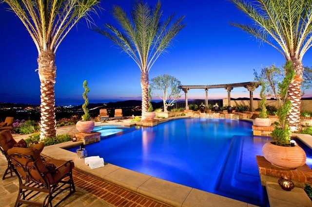 Outdoor Living Spaces traditional-pool
