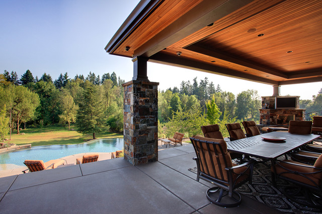 Outdoor Living Spaces - Contemporary - Pool - other metro ... on Houzz Outdoor Living Spaces id=93345