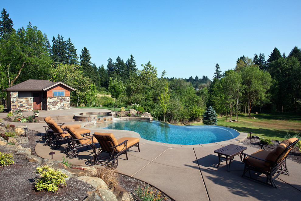 Outdoor Living Spaces - Contemporary - Pool - Portland ... on Rk Outdoor Living id=42042