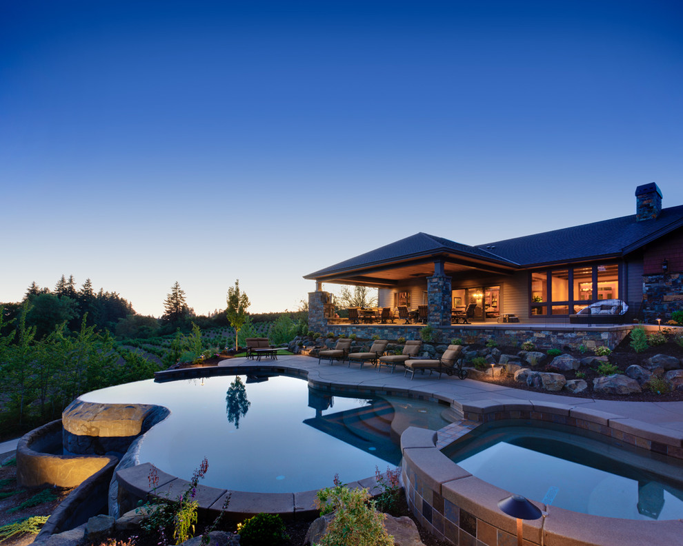 Outdoor Living Spaces - Contemporary - Pool - Portland ... on Rk Outdoor Living id=55172