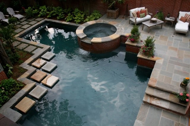 Outdoor Living Spaces modern-pool