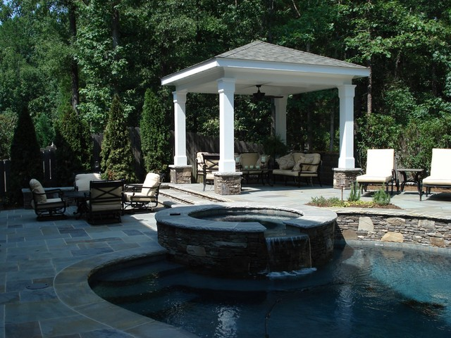 Outdoor Living Spaces modern pool