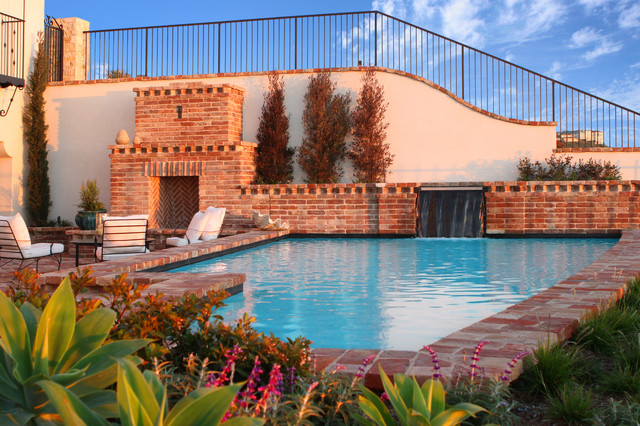 Outdoor living traditional pool orange county by v for Pool design orange county