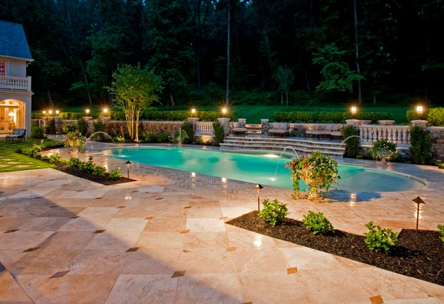 Outdoor oasis traditional pool new york by d for Garden oases pool entrance