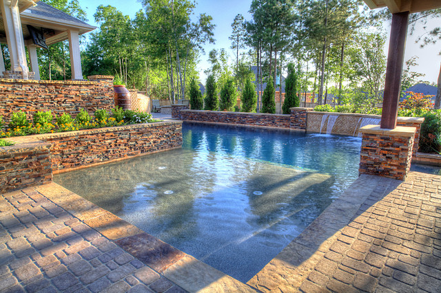Outdoor oasis pool outdoor kitchen patio pergola and more for Garden oases pool