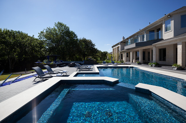 Outdoor Pool and Entertainment Area contemporary-pool