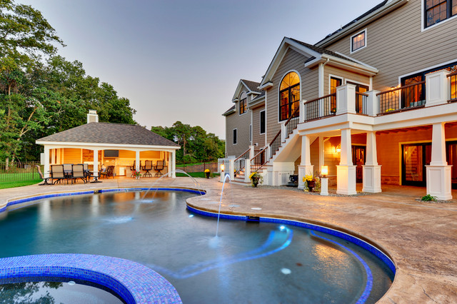 Outdoor House Pools outdoor pool & pool house