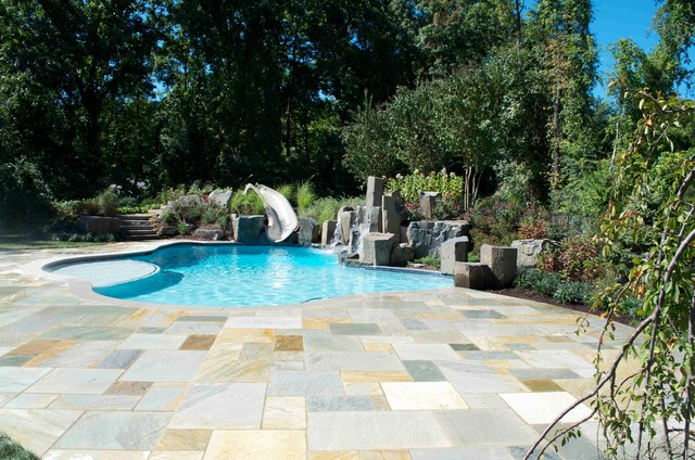 Outdoor Pool Patio Design U0026 Installation Bergen County Northern NJ  Traditional Pool