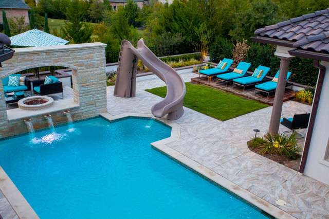 Outdoor home pool  Outdoor Pool - Mediterran - Pools - Dallas - von Scarlett Custom ...